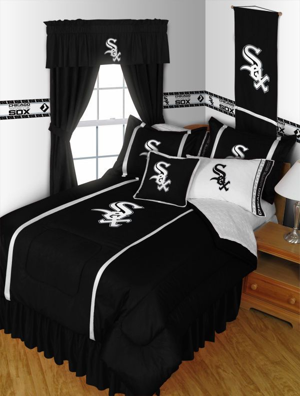 MLB Baseball Chicago White Sox Comforter AND Matching Sheet Set ALL SIZES #Modern