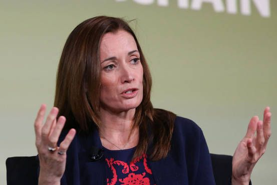 The Digital Assets CEO Blythe Masters explains how Blockchain makes financial transactions more efficient || 'It's a cost-saving device, it's an error-reducing device.'