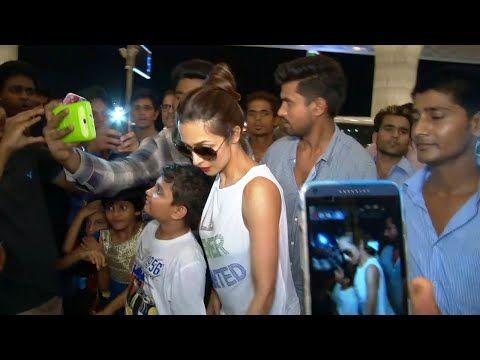Malaika Arora Khan MOBBED at Mumbai airport while leaving for IIFA awards 2015.