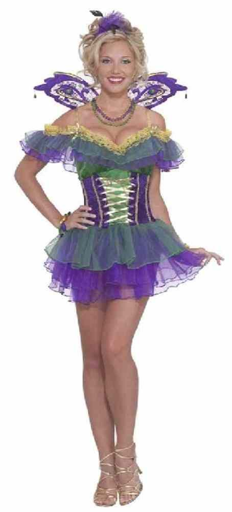 Mardi Gras Fairy Pixie Parade Carnival Fancy Dress Halloween Sexy Adult Costume #FORUM #Dress