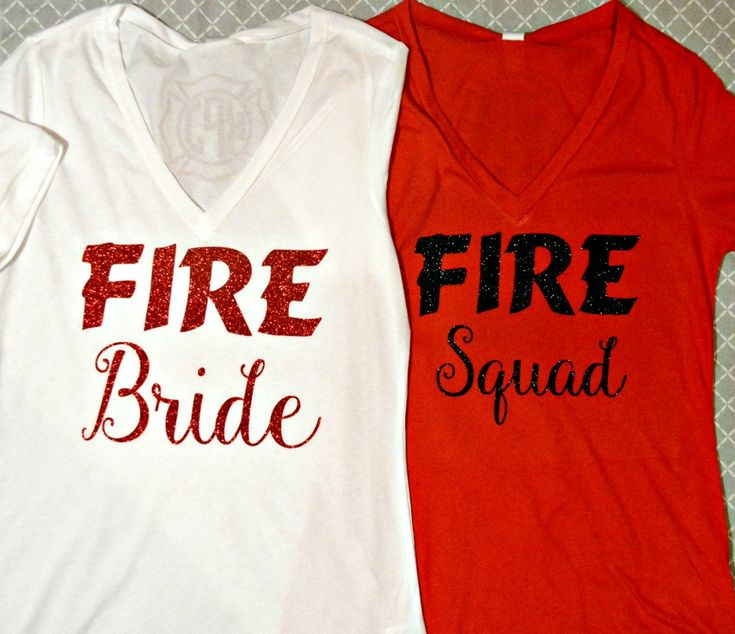 Firefighter Bride to be! Bridal Shirts by Sillylittlegirls on Etsy