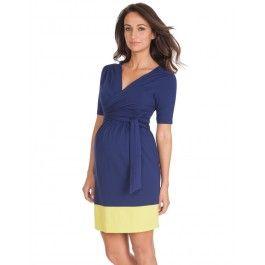 Seraphine Neon Maternity and Nursing Wrap Dress