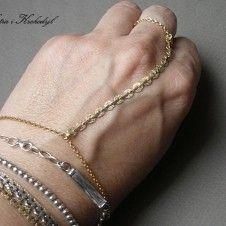 Cekinowa gold - bransoletka + pierścionek Cekinowa gold - bransoletka + pierścionek