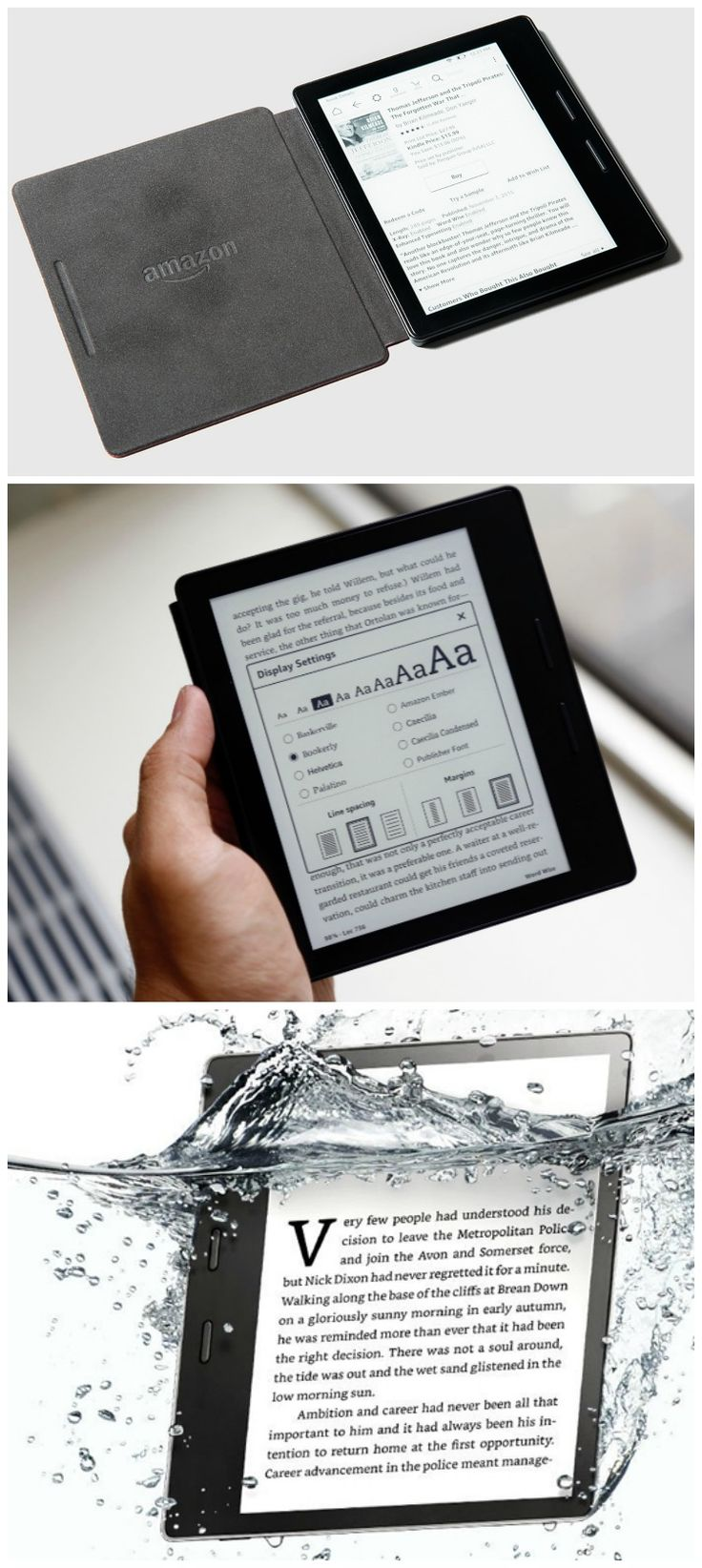 Read in the bath tub with the new waterproof Kindle Oasis. #affiliate #kindle