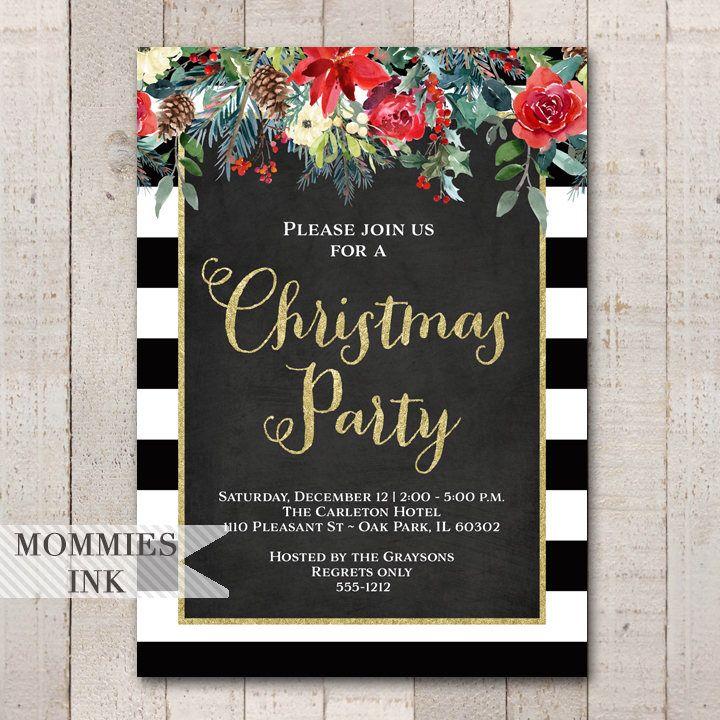 Holiday Party Invitation Christmas Party Invitation Winter