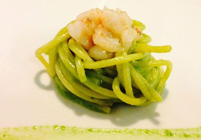 Spaghetti rucola e limone con crudo di gamberi | Food Loft - Il sito web ufficiale di Simone Rugiati