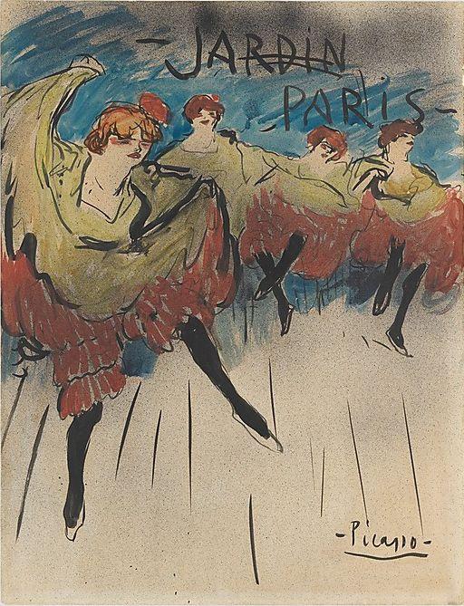 Poster by Pablo Picasso (1881-1973), 1901, Jardin de Paris, Ink and watercolor on paper, The Metropolitan Museum of Art.