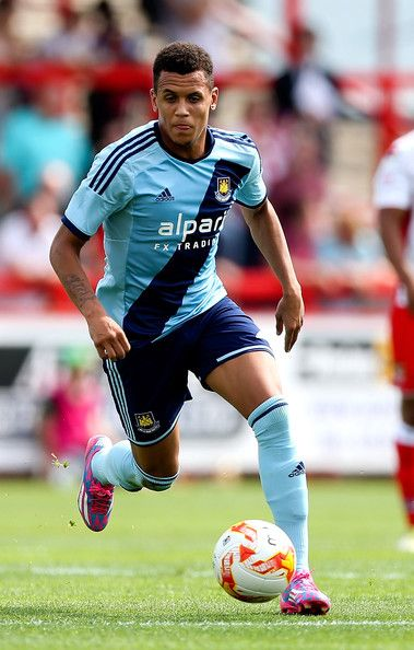 Ravel Morrison of West Ham in action during the pre-season friendly match between Stevenage and West Ham United at The Lamex Stadium on July 12, 2014