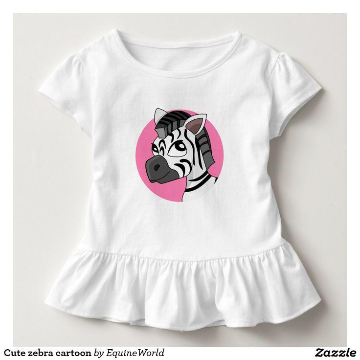 Cute zebra cartoon tees
