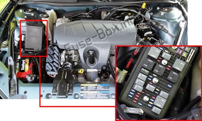 Buick LaCrosse (2005-2009) < Fuse Box location | Buick lacrosse ... 2005 Buick Lacrosse Fuse Box Diagram Pinterest