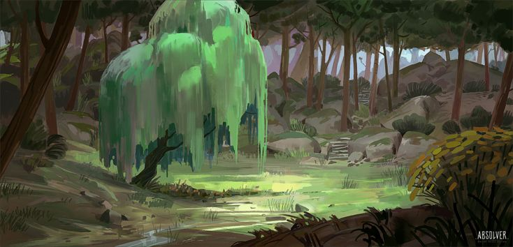 ArtStation - Absolver Forest environment sketches, Michel Donze