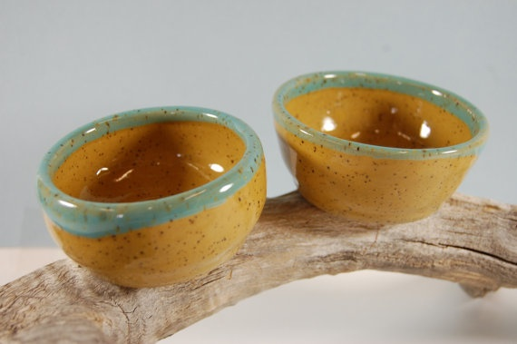 Wee Pottery Prep Bowls Yellow With by CenterHillClayWorks on Etsy, $18.00