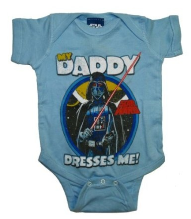 Star Wars Darth Vader My Daddy Dresses Me Baby Creeper Romper Snapsuit