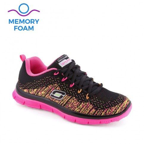 Pantofi sport fete Skech Talent Black - Skechers