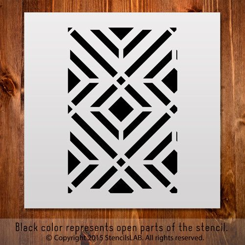 "Small - Crafting Geometric Stencil. DIY Stencil (11"" x 11"")"