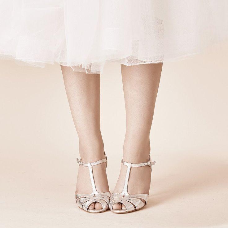 Brautschuh Silber - Ginger