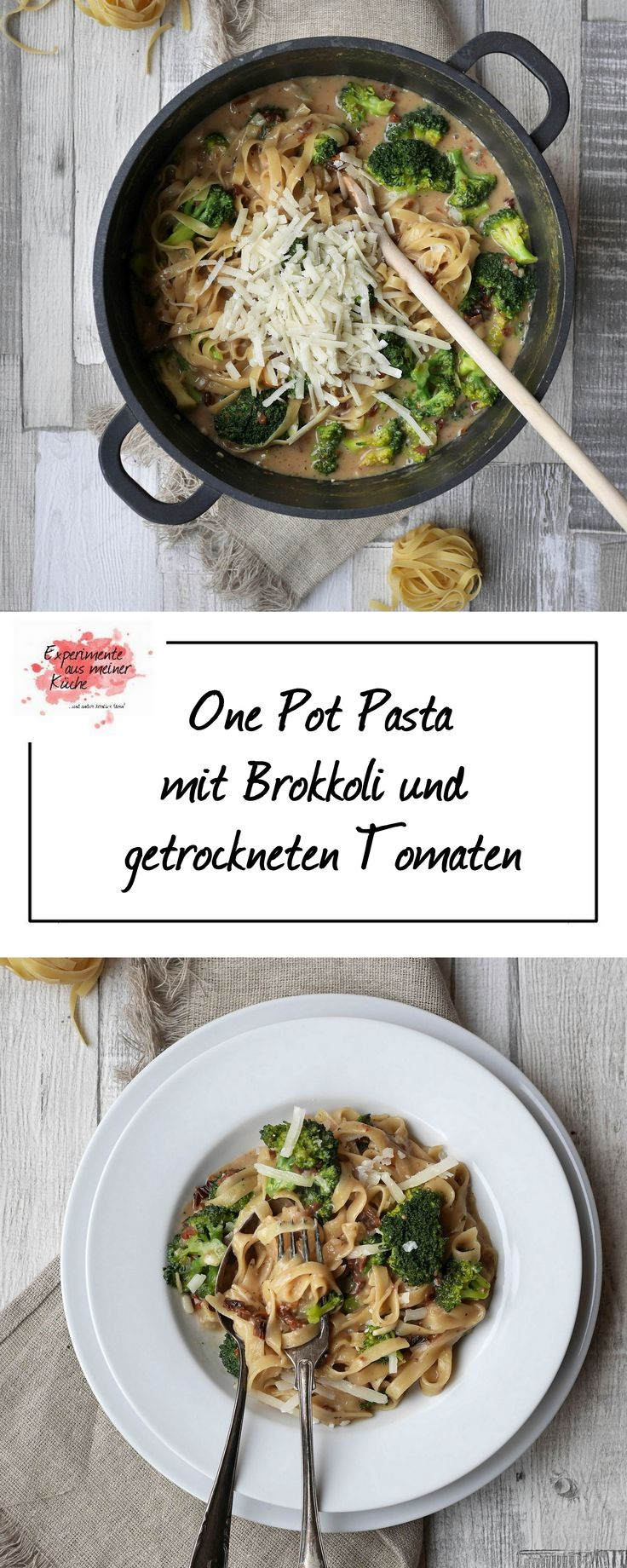 One Pot Pasta mit Brokkoli und getrockneten Tomaten | Kochen | Rezept | Weight Watchers