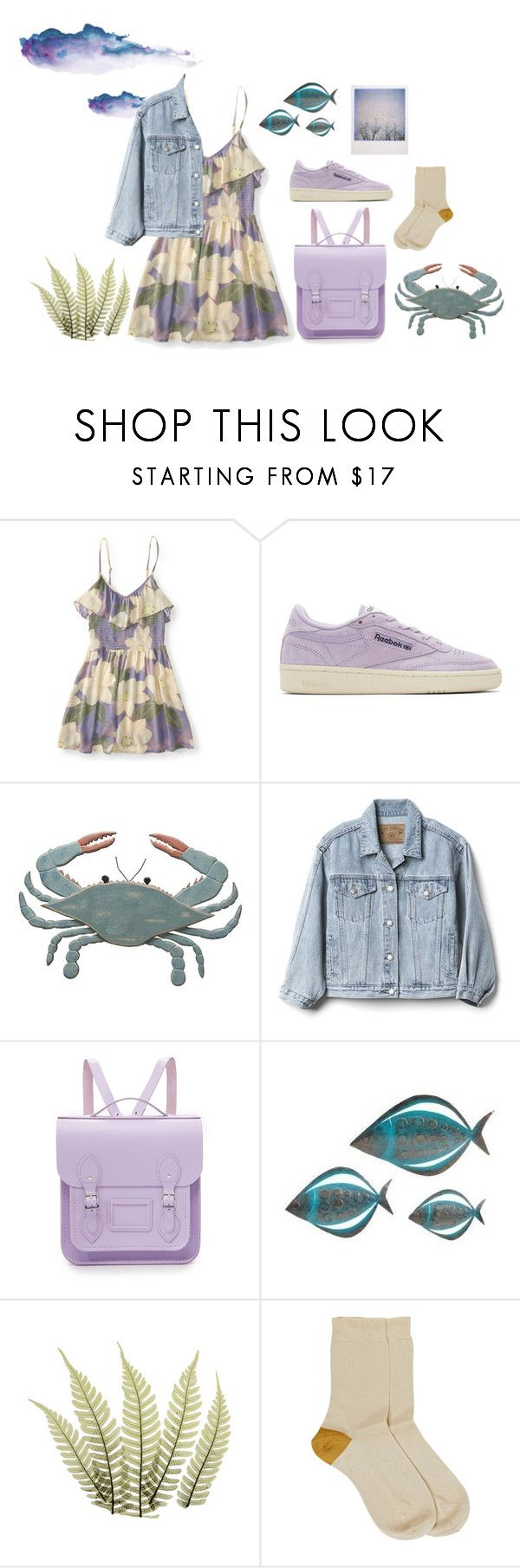 """""""Come away with me"""" by entipuf ❤ liked on Polyvore featuring Aéropostale, Reebok, Primitives By Kathy, Gap, The Cambridge Satchel Company, WALL, Polaroid and Maria La Rosa"""