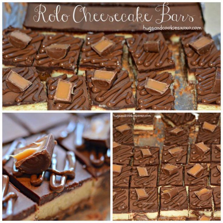 rolo cheesecake bars cheesecake roll dessert bars candy brownies ...