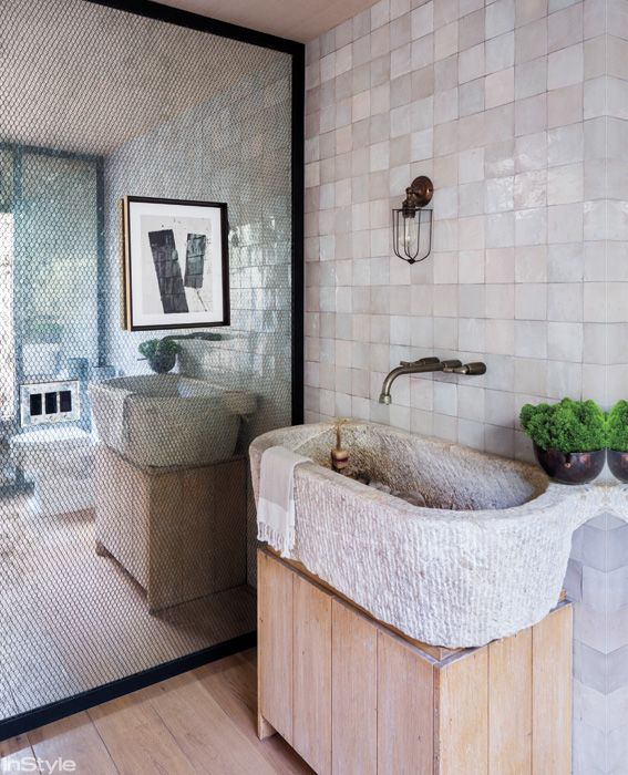 Amber Valletta's Santa Monica Abode - The Bathroom from #InStyle