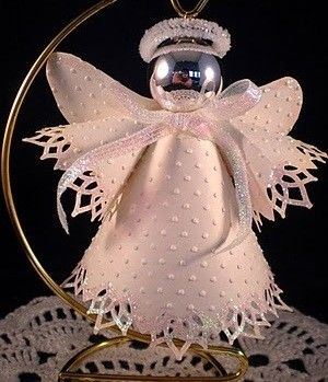 Christmas angel ornament made from paper