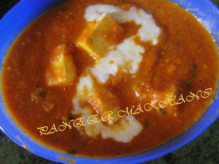 Resmi's kitchen: PANEER MAKHANI / PANEER BUTTER MASALA