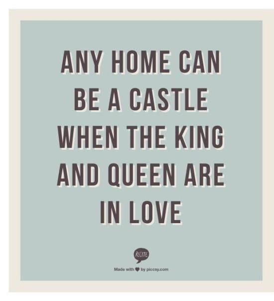This castle is missing it's King at this minute. But the Queen is holding the fort down just as I have done before and will continue to do.