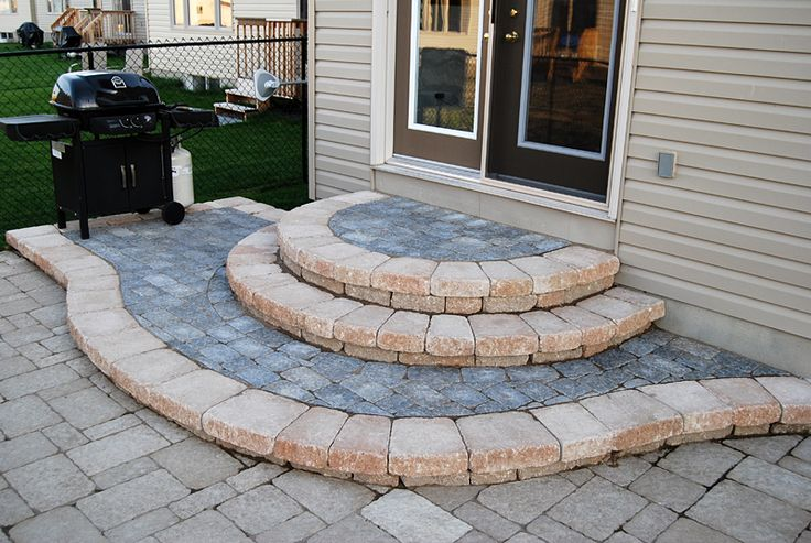 Patio Stone Steps | Poolscaping Steps Walls Interlock Walkways Patios  Interlock Driveways ... | Patios | Pinterest | Stone Steps, Walkways And  Driveways