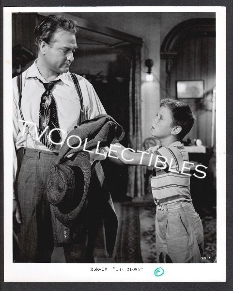 8x10 Photo~ THE CLOWN ~1960 ~Red Skelton ~child actor Tim Considine