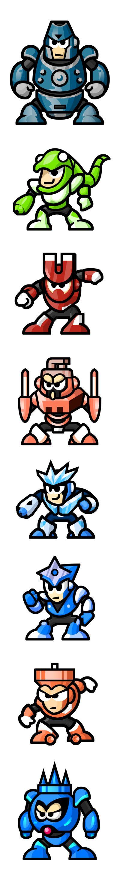 MegaMan 'Sprites'-Bosses of 3 by WaneBlade.deviantart.com on @DeviantArt