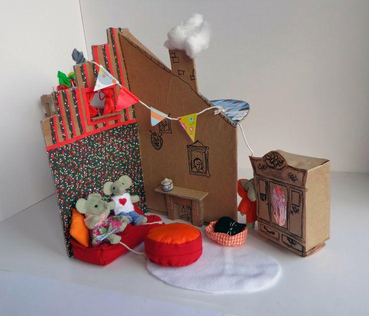 Een poppenhuis maken van karton
