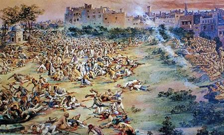 "On April 13, 1919, a multitude of Punjabis  gathered in Amritsar's Jallian wala Bagh as part of the Sikh Festival ""Baisakhi fair"" and to protest at these extraordinary measures. The throng, penned in a narrow space smaller than Trafalgar Square, had been peacefully listening to the testimony of victims when Dyer appeared at the head of a contingent of British troops. Giving no word of warning, he ordered 50 soldiers to fire into the gathering, and for 10 to 15 minutes 1,650 rounds of…"
