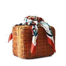 Модные летние соломенные ткань женские сумки ретро окно ствол шарф обед сумки пляжные Упаковка маленькие сумки женские шарфы BA214(China (Mainland))