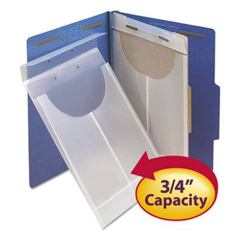 Two-Hole Letter/legal Poly Expanding Jackets, Legal/letter, Poly, Clear, 24/box