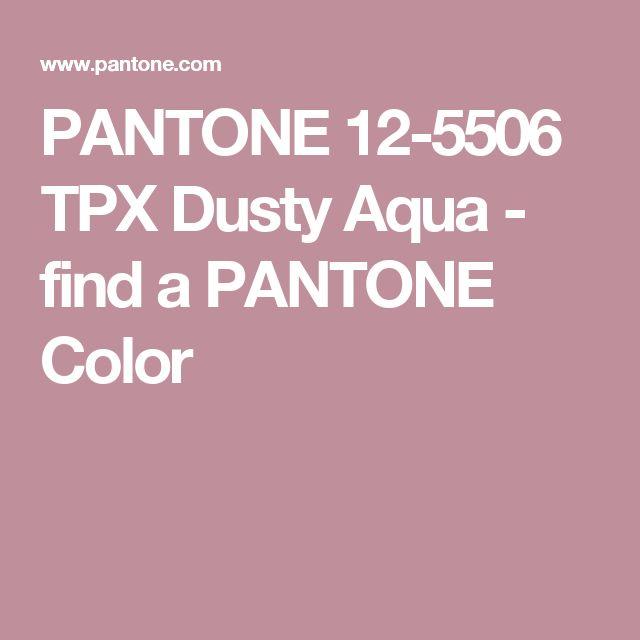 PANTONE 12-5506 TPX Dusty Aqua - find a PANTONE Color