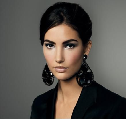 big bold and black earrings
