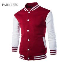 US $17.49 New Men/Boy Baseball Jacket Men 2017 Fashion Design Wine Red Mens Slim Fit College Varsity Jacket Men Brand Stylish Veste Homme. Aliexpress product