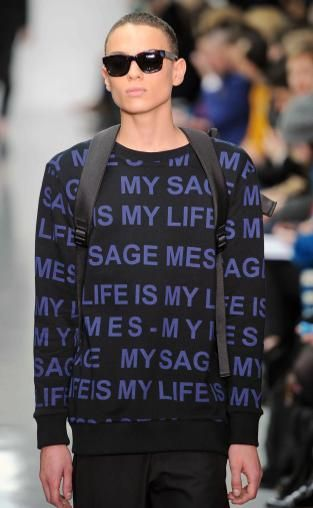 Instant messaging: A/W 14/15 young men's catwalk trend flash