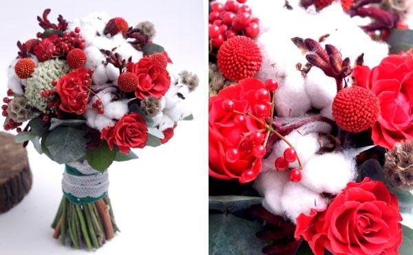 Зимний букет невесты - Свадебный журнал