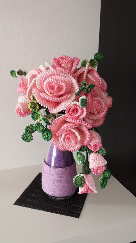 98 besten kvačkanj rože Bilder auf Pinterest | Blumen häkeln ...