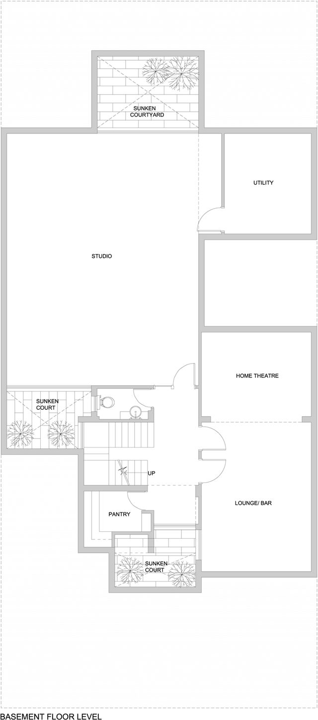 Floor plan of the asian dream home