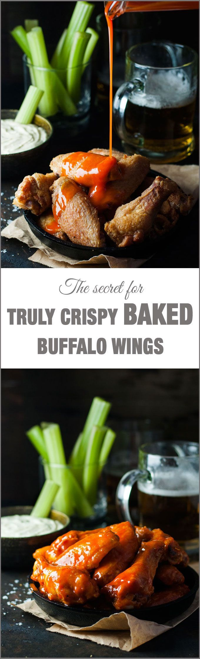 Check out Truly Crispy Oven Baked Buffalo Wings. It's so easy to make ...