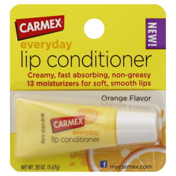 Carmex ORANGE FLAVOR Everyday Lip Conditioner 0.20 oz #Carmex