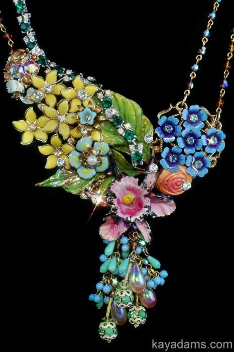 Collage Necklace – A Bouquet for Today Tomorrow Forever by Kay Adams,