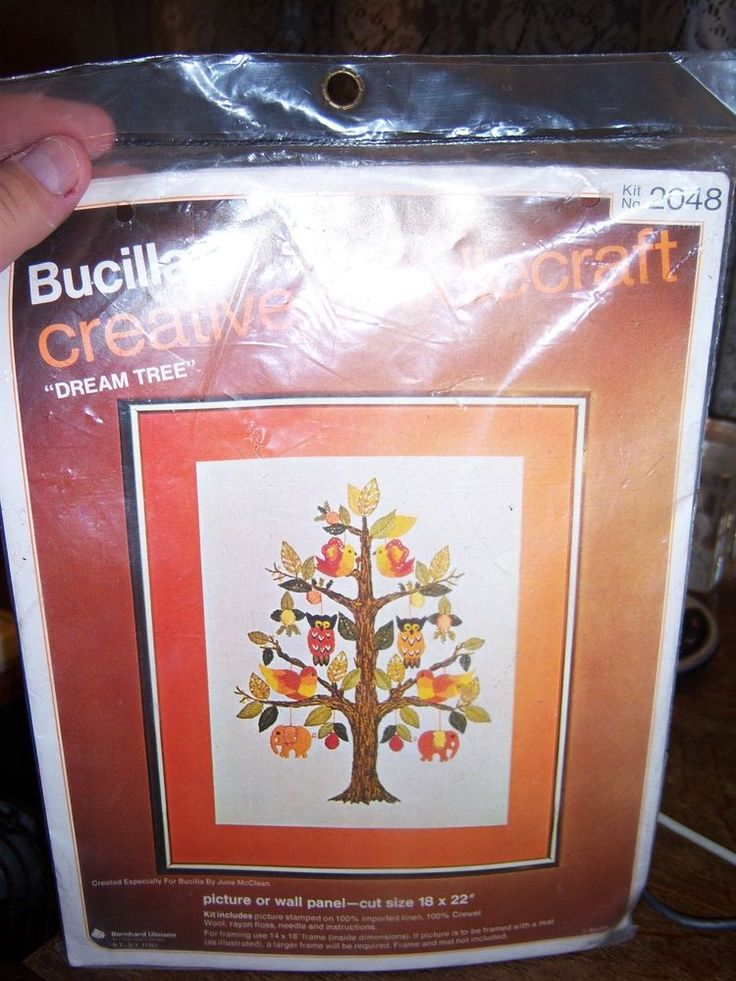 "Bucilla Needlepoint Kit 2048 ""Dream Tree"" Wall Panel 18x22"" Cut Owls Birds E 