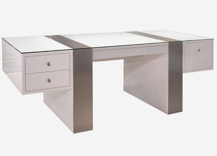 white modern office desk. nero lacquerthe white lacquer desk and credenza are large efficient executive office furniture the with its drawers file glass modern
