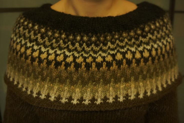 An Icelandic hand-knitted dress.