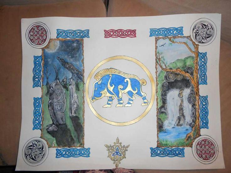 celtic watercolor