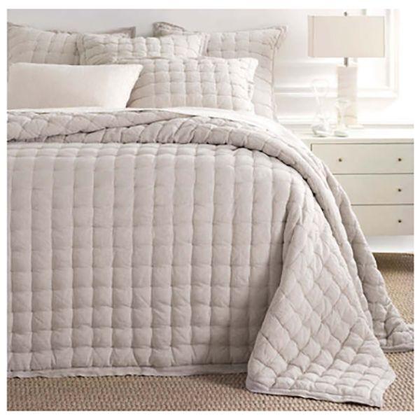 Pine Cone Hill Lush Linen Natural Puff Bed Linen Design Bedding