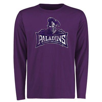 Furman Paladins Big & Tall Classic Primary Long Sleeve T-Shirt - Purple